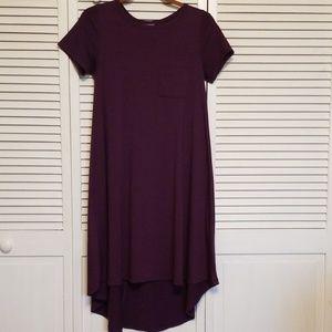LulaRoe high low tshirt dress. XXS. EUC